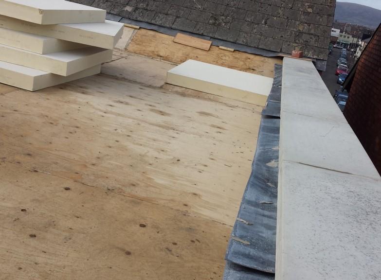 Insulated Roof Ravenhill Park Belfast Flat Roof Repair Felt EPDM Belfast Bangor Holywood Builders Roofers