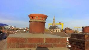 Goliath Crane Bangor Belfast Roofers Builders Short Strand