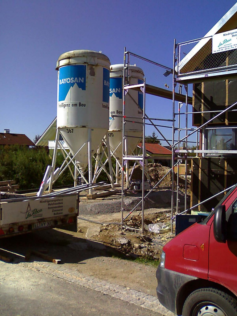 Plastering Belfast Berlin Twenty Ton Mortar Silo's for Machine plastering