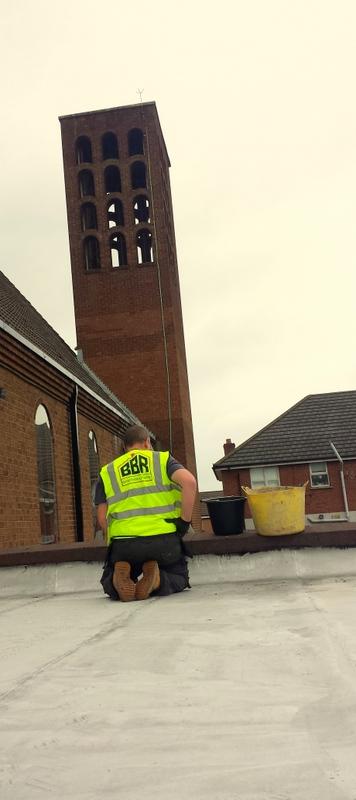 Flat roofers Repairs Bangor Belfast Holywood Saint Brendans Church Sydenham Belfast Bangor