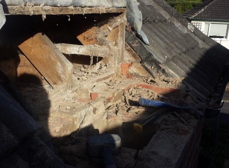Chimney Demolition 1 Fairway Avenue, Belfast, BT9 5NL